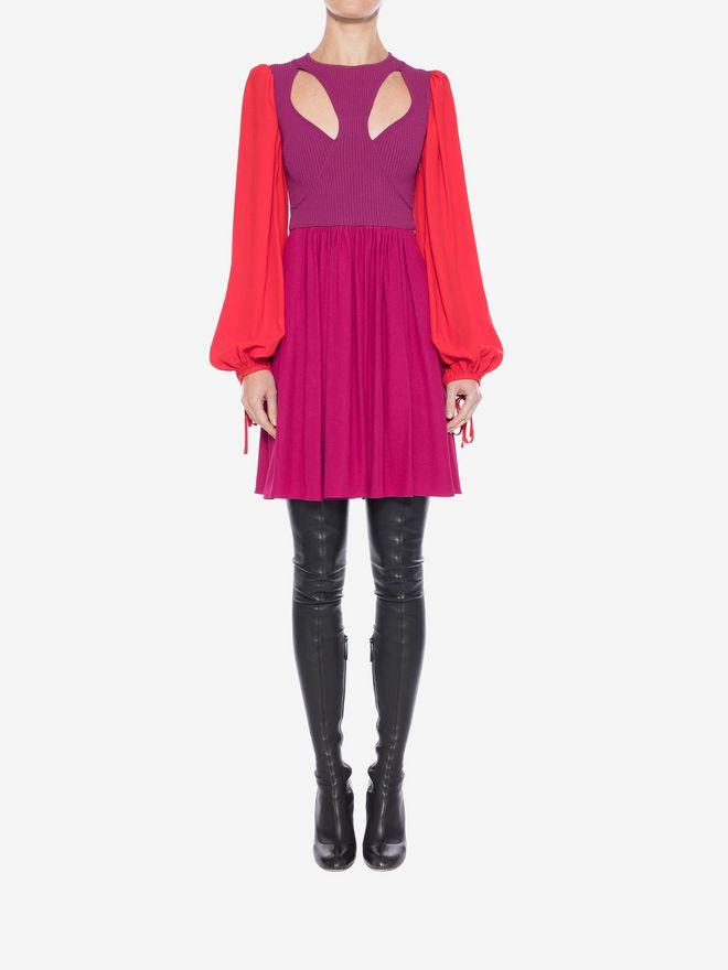 ALEXANDER MCQUEEN Colorblock Harness Mini Dress Mini Dress Woman a