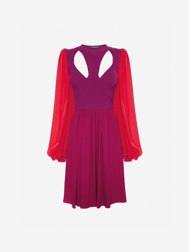 ALEXANDER MCQUEEN Colorblock Harness Mini Dress Mini Dress Woman f