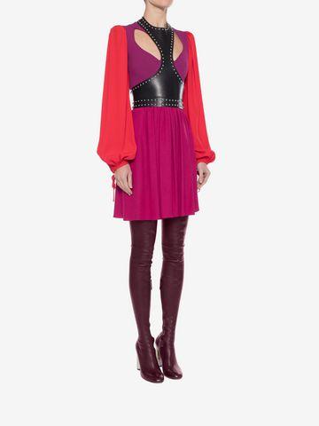 ALEXANDER MCQUEEN Colorblock Harness Mini Dress Mini Dress Woman d