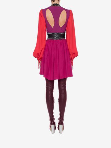 ALEXANDER MCQUEEN Colorblock Harness Mini Dress Mini Dress Woman e