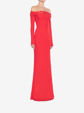 ALEXANDER MCQUEEN Off-The-Shoulder Evening Dress Long Dress Woman d