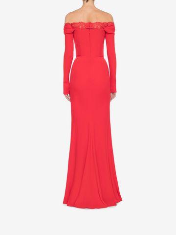 ALEXANDER MCQUEEN Off-The-Shoulder Evening Dress Long Dress Woman e