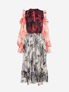 ALEXANDER MCQUEEN Mid-length Dress Woman Eve Print Midi Dress f
