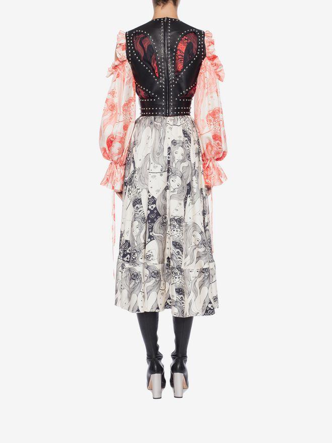 ALEXANDER MCQUEEN Eve Print Midi Dress Mid-length Dress Woman e