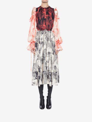 ALEXANDER MCQUEEN Eve Print Midi Dress Mid-length Dress Woman a