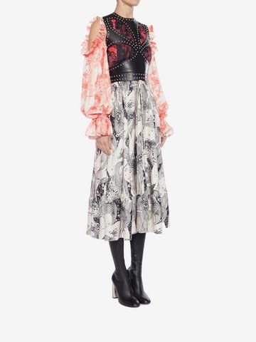 ALEXANDER MCQUEEN Eve Print Midi Dress Mid-length Dress Woman d