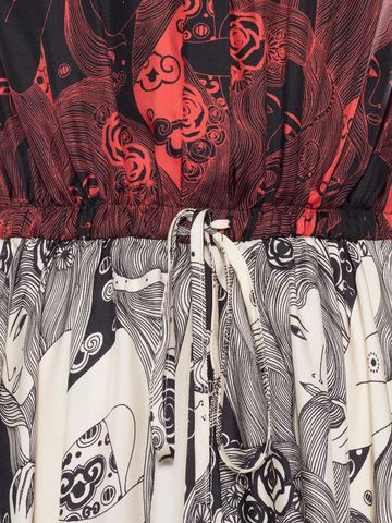 ALEXANDER MCQUEEN Eve Print Midi Dress Mid-length Dress Woman l