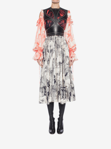 ALEXANDER MCQUEEN Eve Print Midi Dress Mid-length Dress Woman r