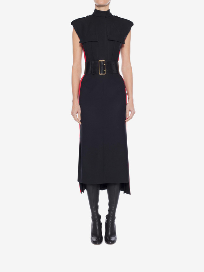 ALEXANDER MCQUEEN Military Midi Dress Mid-length Dress Woman r