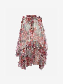 ALEXANDER MCQUEEN Mini Dress Woman Feather Print Mini Dress f