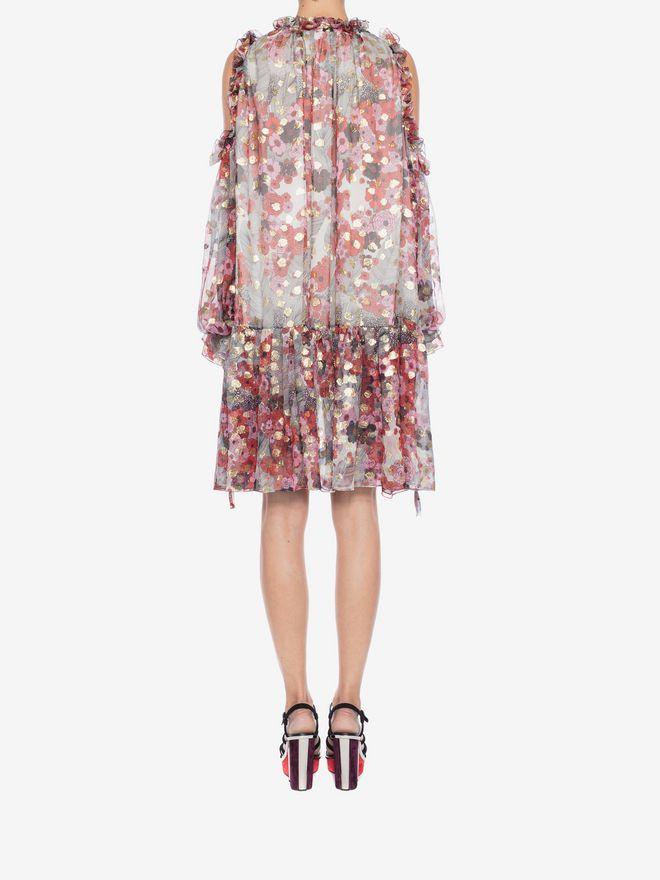 ALEXANDER MCQUEEN Feather Print Mini Dress Mini Dress Woman e