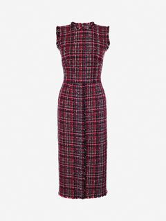ALEXANDER MCQUEEN Mid-length Dress Woman Tweed Midi Dress f