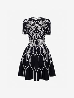 ALEXANDER MCQUEEN Mini Dress Woman Jacquard Mini Dress f