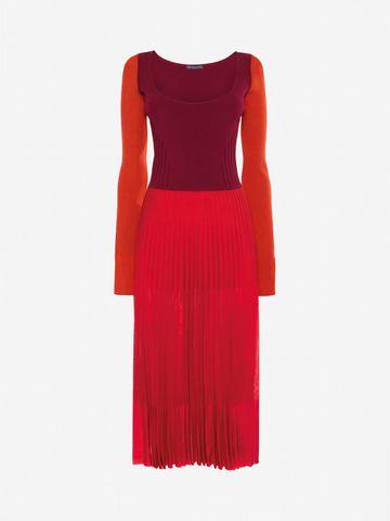 Scoop Neck Dress - Red Alexander McQueen 09rNlItEwO