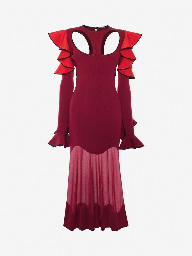 ALEXANDER MCQUEEN Harness Midi Knit Dress Mid-length Dress Woman f