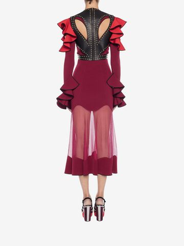 ALEXANDER MCQUEEN Harness Midi Knit Dress Mid-length Dress Woman e