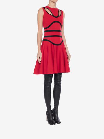 ALEXANDER MCQUEEN Tubular Knit Mini Dress Mini Dress Woman d