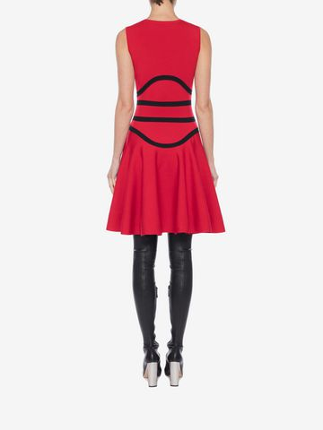 ALEXANDER MCQUEEN Tubular Knit Mini Dress Mini Dress Woman e