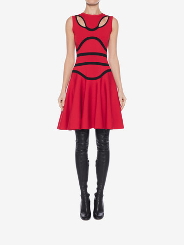 ALEXANDER MCQUEEN Tubular Knit Mini Dress Mini Dress Woman r