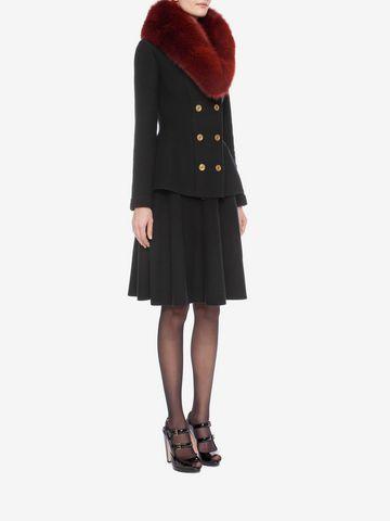 ALEXANDER MCQUEEN Knitted 1/2 Circle Knee Length Skirt Skirt D d