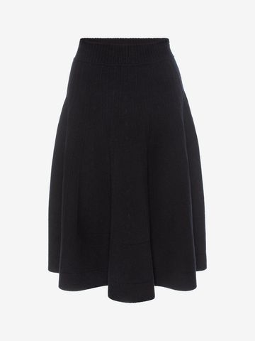 ALEXANDER MCQUEEN Knitted 1/2 Circle Knee Length Skirt Skirt D f