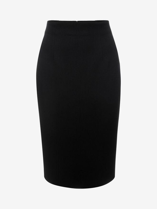 ALEXANDER MCQUEEN Leaf Crepe Skirt Skirt D f