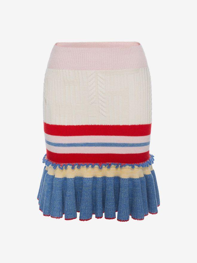 ALEXANDER MCQUEEN Peplum Mini Skirt Skirt D f