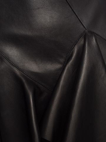 ALEXANDER MCQUEEN Ruffled Lambskin Leather Skirt Skirt Woman a