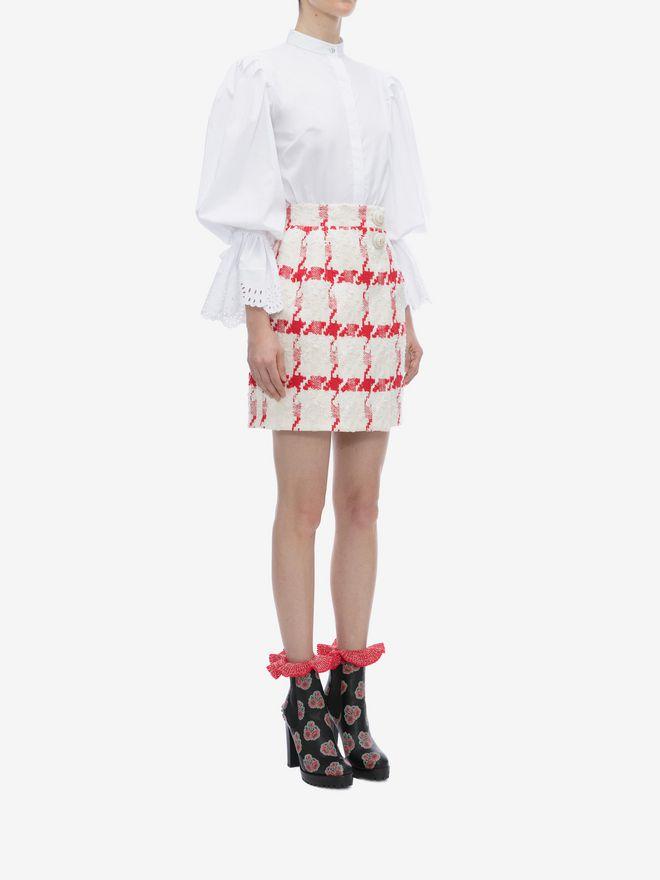 ALEXANDER MCQUEEN Dogtooth Check Mini Skirt Skirt D d