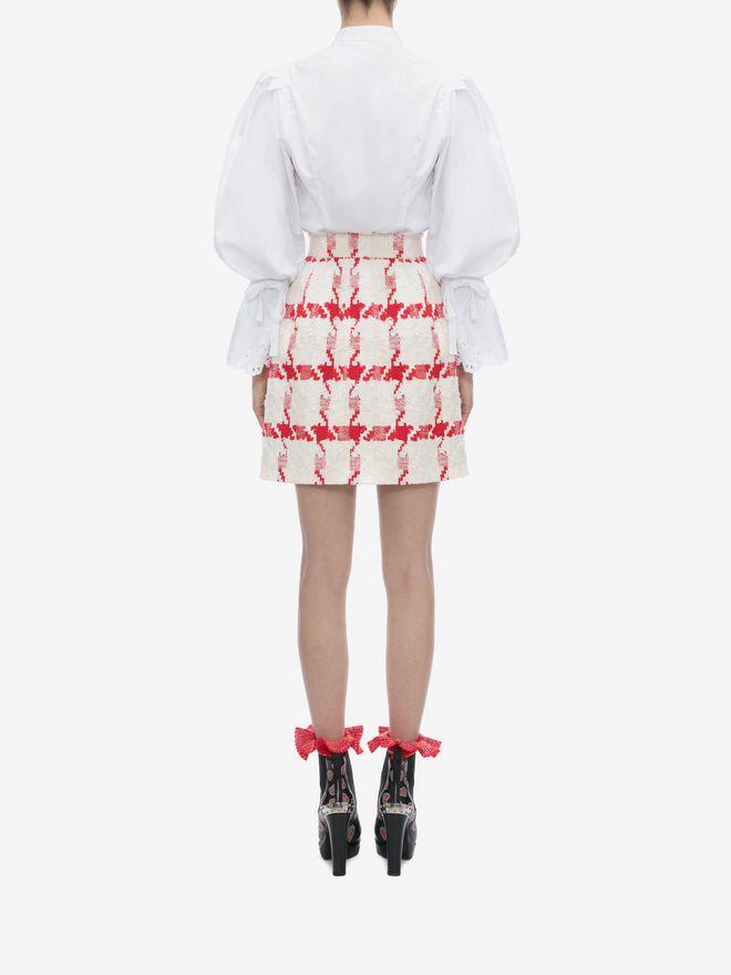 ALEXANDER MCQUEEN Dogtooth Check Mini Skirt Skirt D e