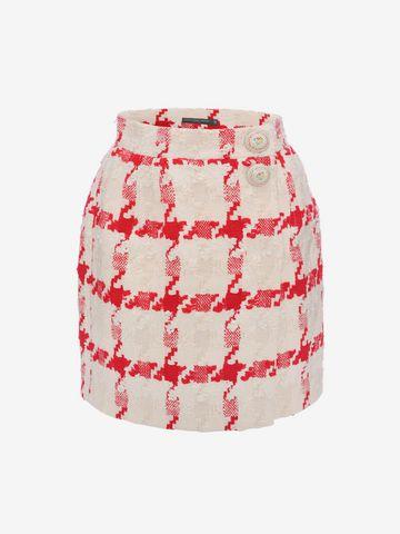 ALEXANDER MCQUEEN Dogtooth Check Mini Skirt Skirt D f
