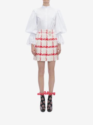 ALEXANDER MCQUEEN Dogtooth Check Mini Skirt Skirt D r