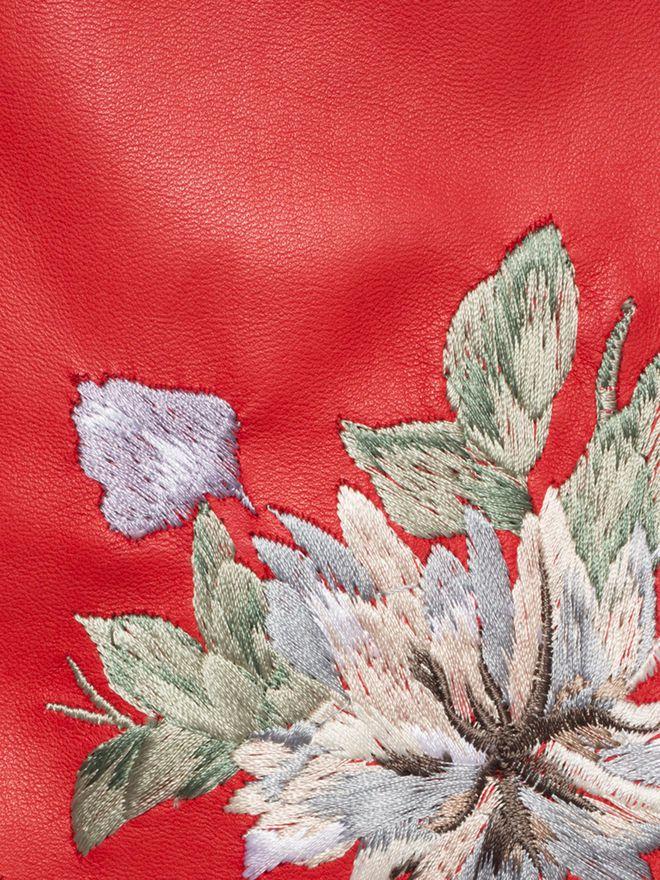ALEXANDER MCQUEEN Embroidered Lambskin Leather Mini Skirt Skirt D a