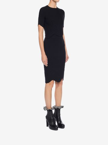 ALEXANDER MCQUEEN Knitted Pencil Skirt Skirt D d
