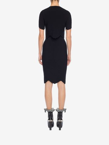 ALEXANDER MCQUEEN Knitted Pencil Skirt Skirt D e