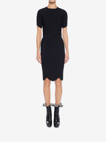 ALEXANDER MCQUEEN Knitted Pencil Skirt Skirt D r