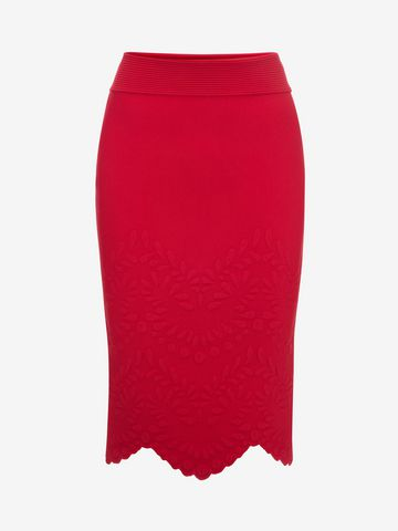 ALEXANDER MCQUEEN Knitted Pencil Skirt Skirt D f
