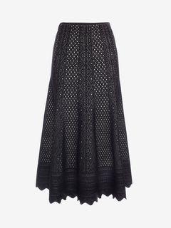 ALEXANDER MCQUEEN Skirt D Bicolor Jacquard Lace Skirt f