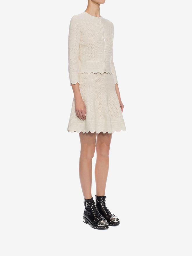 ALEXANDER MCQUEEN Bicolour Jacquard Lace Skirt Skirt D d