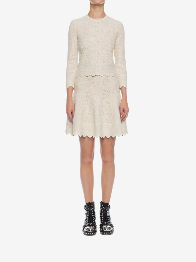 ALEXANDER MCQUEEN Bicolour Jacquard Lace Skirt Skirt D r