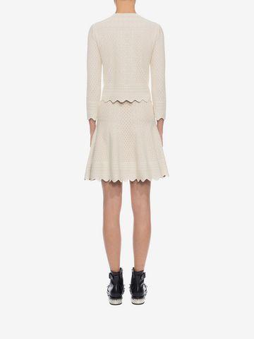 ALEXANDER MCQUEEN Bicolour Jacquard Lace Skirt Skirt D e
