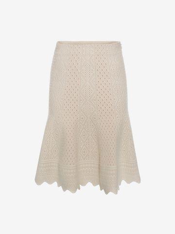 ALEXANDER MCQUEEN Bicolour Jacquard Lace Skirt Skirt D f