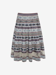 ALEXANDER MCQUEEN Skirt D Knee-Length Jacquard Skirt f