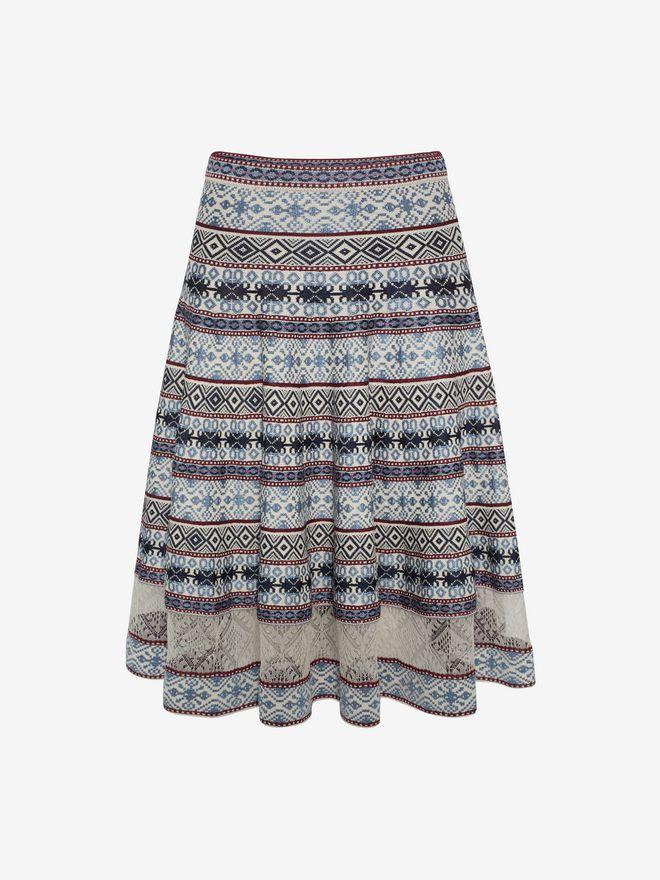 ALEXANDER MCQUEEN Knee-Length Jacquard Skirt Skirt D f