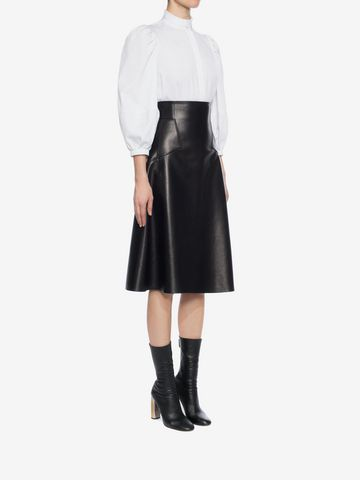 High Waisted Leather Skirt | Alexander McQueen
