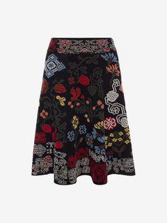 ALEXANDER MCQUEEN Skirt D Samplers Jacquard Mini Skirt f