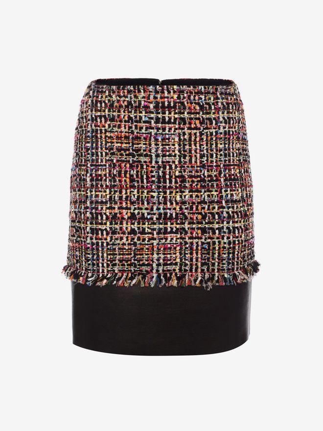 ALEXANDER MCQUEEN Wishing Tree Tweed Mini Skirt Skirt Woman f