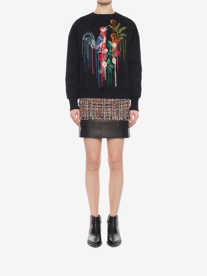 ALEXANDER MCQUEEN Wishing Tree Tweed Mini Skirt Skirt Woman r