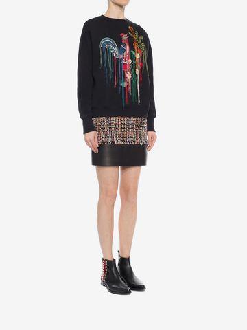 ALEXANDER MCQUEEN Wishing Tree Tweed Mini Skirt Skirt Woman d