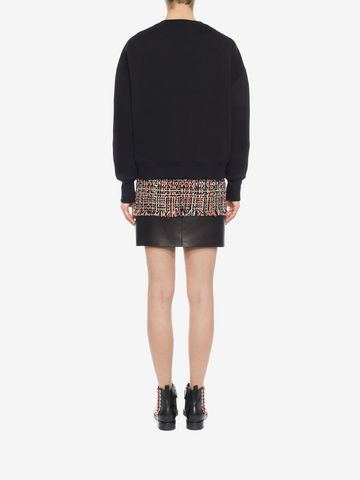 ALEXANDER MCQUEEN Wishing Tree Tweed Mini Skirt Skirt Woman e